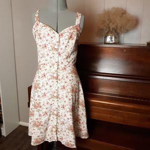 Lucky brand floral button down dress
